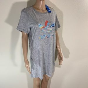 Adidas Tee Shirt Dress Logo NWT XS